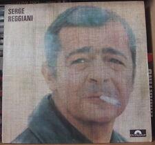 SERGE REGGIANI POCHETTE GRANULEE AVEC LIVRET GATEFOLD COVER  FRENCH LP 1974