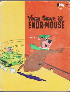 Yogi-Bear-and-the-Enor-Mouse-Book-by-Horace-J-Elias-HC-Durabooks-1973-vintage