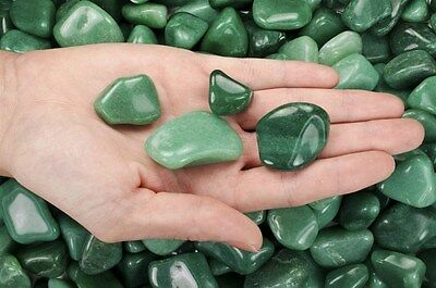 Expressive 3 Pounds Tumbled Green Aventurine - 'aa' Grade - Wire Wrapping, Reiki, Wicca