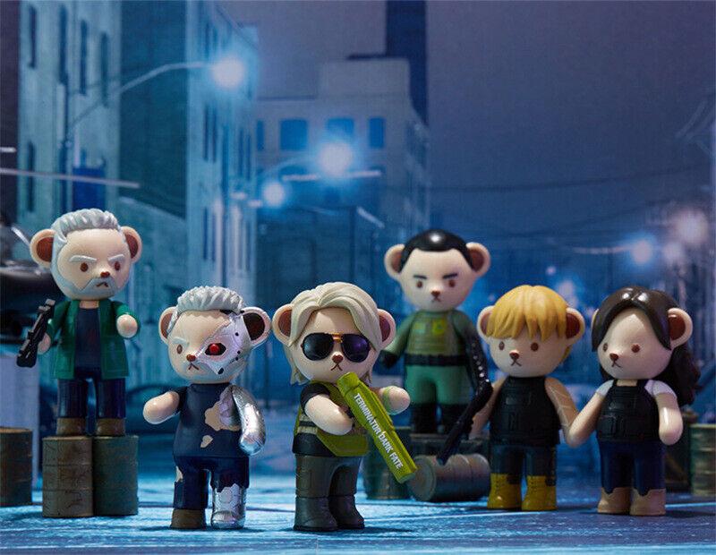 Teddy Bear Terminator Dark Fate Figurine zeigen Xmas Geschenk Designer Collectible