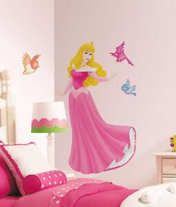 Détails sur Sticker chambre enfant mural Disney Sleeping Beauty Belle au  bois dormant fille- afficher le titre d\'origine