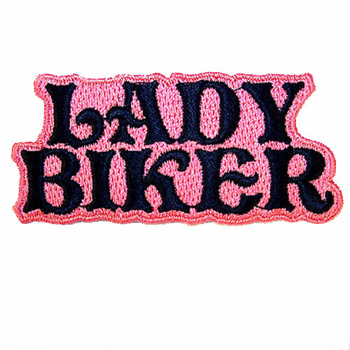 LADY BIKER EMBROIDERED PATCH sew or iron biker P-378 women ladies patches new