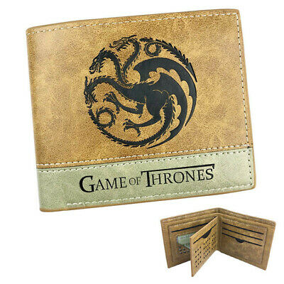 Game Of Thrones Targaryen Dragons Fire /& Blood Wallet Black Coins Cards Notes