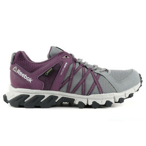 Reebok Women's Trailgrip RS 5.0 GTX Grey/Washed Plum Gore-Tex Shoes BS5430 NEW!