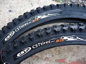 PAIR-CST-RALEIGH-MTB-MOUNTAIN-BIKE-CYCLE-TYRES-ONLY-26-X-1-95