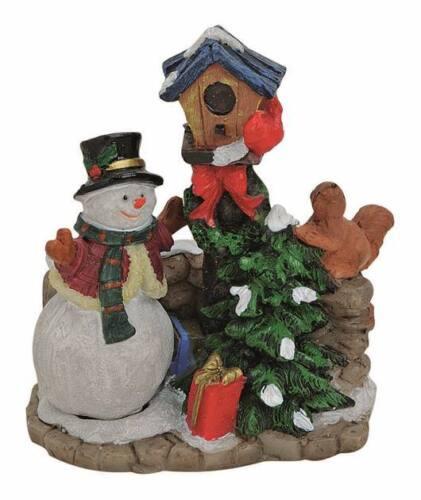 Weihnachtsdorf Wurm 15000-403 Weihnachtsfiguren Schneemann am Vogelhaus