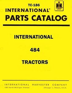 International-Harvester-484-Tractor-Chassis-Parts-Catalog-Manual-IH