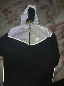 Grey Flash chaqueta con Windrunner grande Nike 3m capucha reflectante Tech nWvIxawp