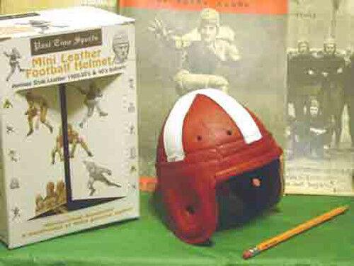 1940 Leather  Oklahoma Sooners syle  mini   Football Helmet 1 3 scale