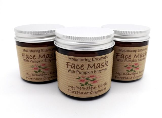 Organic Pumpkin & Geranium Face Mask With Natural Enzymes Moisturising Dry Skin