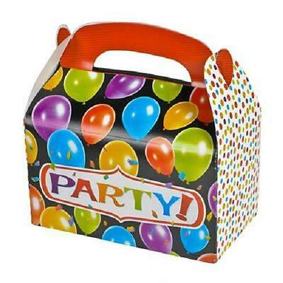 12 ASSORTED COLOR TREAT BOXES Birthday Party Loot Goody Bags #ST9 FREE SHIPPING