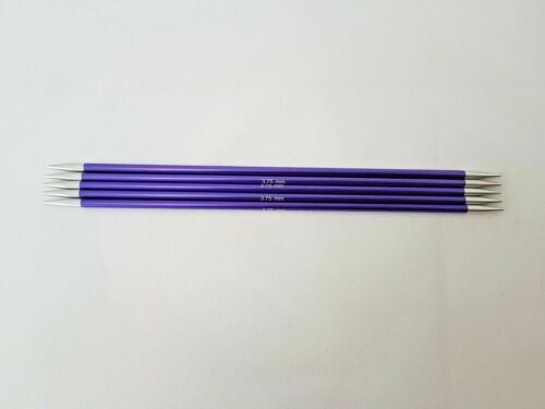 sizes 2-8 mm 20 cm dpn/'s KnitPro ZING double pointed needles
