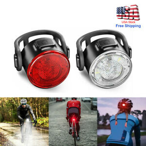 USB Rechargeable 12LED Bike Tail Light Bicycle Rear Cycling Blue//Red Flashlight