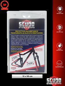 Pellicola Adesiva Scudo per Protezione Telaio Bici 12 x 50 cm Spessore 0,8 mm