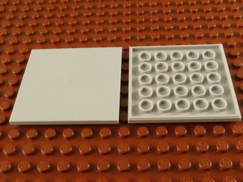 FOUR GRAY 6x6 LEGO TILES ~ 4x Light Bluish Grey Flat Tile w// Bottom Tubes  NEW