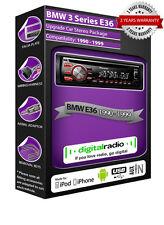 BMW 3 Series E36 DAB radio car stereo Pioneer DEH-4700DAB with FREE DAB aerial