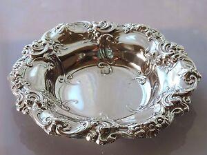 Antique-Gorham-Sterling-Silver-95-Grams-Art-Nouveau-Repousee-Bowl-High-Relief