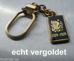 SchlÜsselanhÄnger Sternzeichen Jungfrau Virgo Vergoldet Keychain Star Sign Neu QualitäT Zuerst Schlüsselanhänger