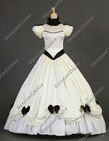 Southern Belle Victorian Vintage Wedding Gown Bridal Dress Theater Clothing 323