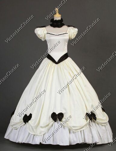 Victorian Costumes: Dresses, Saloon Girls, Southern Belle, Witch    Southern Belle Victorian Vintage Wedding Gown Bridal Dress Theater Costume 323 $155.00 AT vintagedancer.com