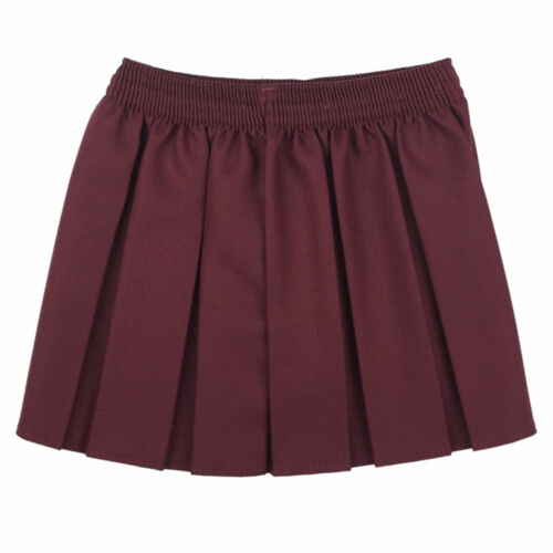 Girls//Ladies//Womens Skirt School Office Uniform Box Pleated Elasticated waist