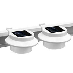 2 x 3 led solarleuchte solarlampe au enleuchte zaun. Black Bedroom Furniture Sets. Home Design Ideas