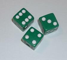 Dice Control Knobs Green Opaque 3pak Brian Setzer Gretsch Guitar diceknobs