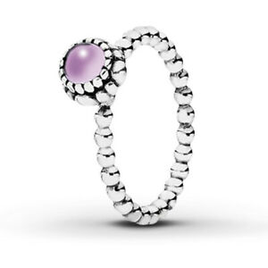 Authentic Pandora February Birthstone Ring S925 Ale Various Sizes