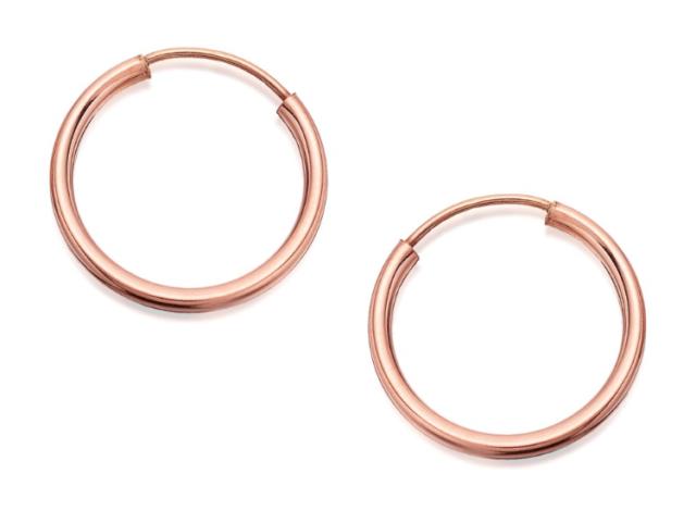 Hoops Earrings 1 x Pair of 14ct Gold Filled 10mm Tube Hoop Sleeper Earrings