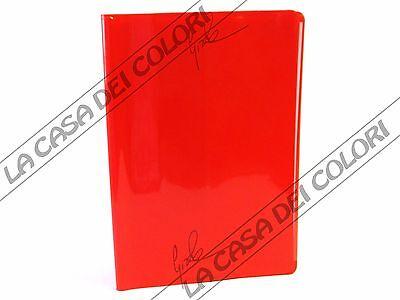 Disciplinato Coprimaxi Laccato - Copertina Per Quaderni A4 - Alettata - Rosso - 1 Pezzo Rendere Le Cose Convenienti Per Le Persone