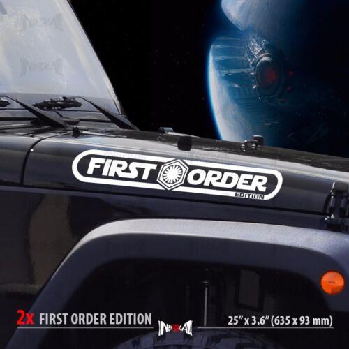 2x FIRST ORDER EDITION Star Wars Dark Side Jeep Car Vinyl Sticker Decal