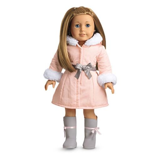 "American Girl MY AG PRETTY PINK COAT SET for 18/"" Dolls Retired Jacket Outfit NEW"