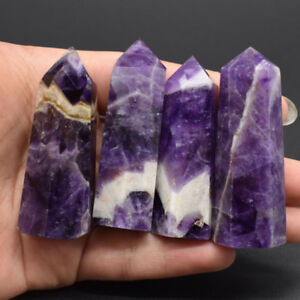 Natural Purple Dream Amethyst Quartz Crystal Stone Point Healing Hexagonal Wand