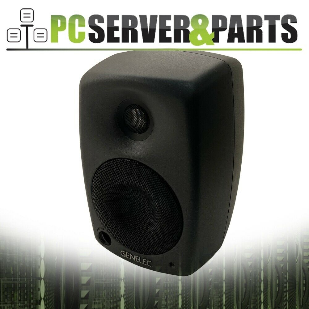 "Pair Rockville 37"" Black Steel Speaker Stands For Genelec 8020D Monitors"