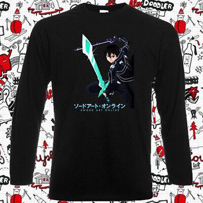 New SAO Sword Art Online Kirito Anime Cartoon Men/'s White T-Shirt Size S-3XL