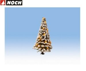 Noch-H0-Tt-N-22120-Lighted-Christmas-Tree-Snowy-with-20-Leds-New-Boxed
