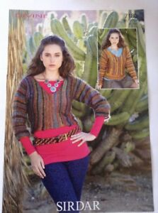 104bb8f472e11a Sirdar Divine D K Ladies V Neck Sweater Knitting Pattern 7180 Sizes ...