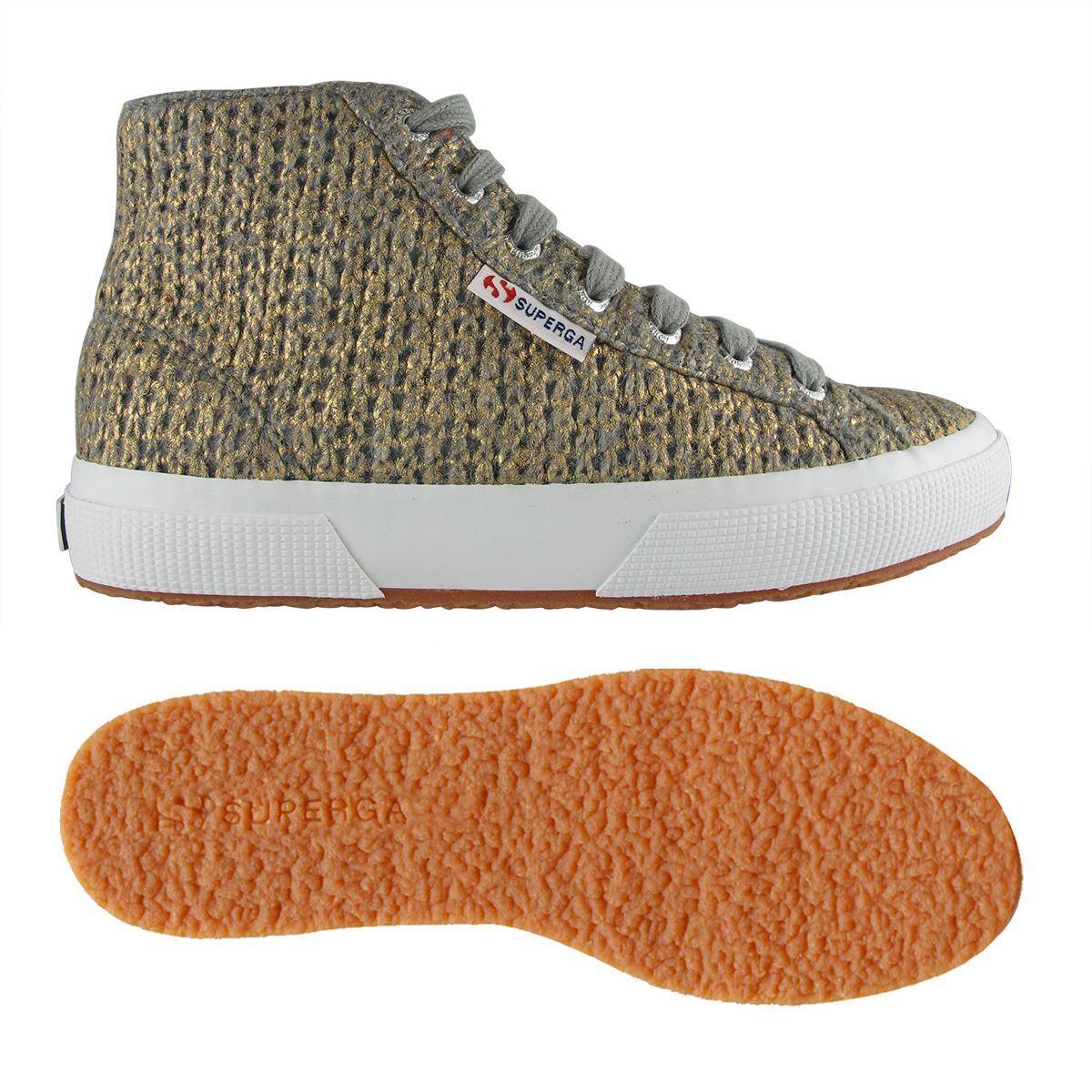 SUPERGA 2795-WOOLMETW - Art.S00A5M0 927- COL.Grau-Gold - Sneakers Woman