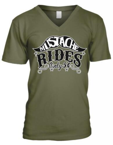Moustache Rides seulement 5 cents Drôle Humour Blague sexuelle Rude Homme T-Shirt col V