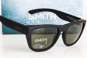 NEW-SMITH-CLARK-SUNGLASSES-Matte-Black-frame-Gray-Green-Chromapop-Polarized-lens