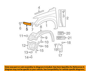 For Toyota Genuine Fender Extension Panel Front Right 539310C901