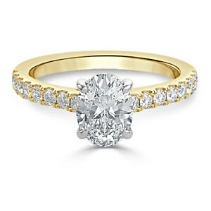 1.30 Ct Solitaire Moissanite Engagement Ring Solid 18K Yellow Gold ring Size 9.5