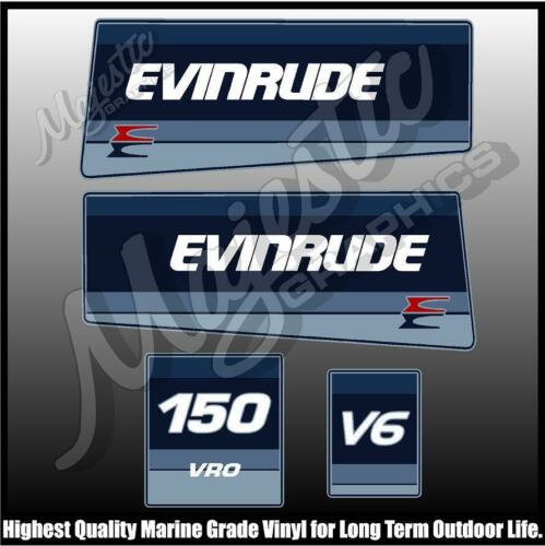 OUTBOARD DECALS VRO EVINRUDE 150 hp V6