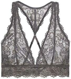 Savage-X-Fenty-Women-039-s-Floral-Lace-Bralette-Black-Size-Medium-clif