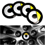 2-x-56mm-Rad-Auto-center-Hub-Kappe-Abzeichen-Emblem-Aufkleber-fuer-Smart-ForTwo Indexbild 1