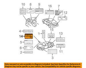 Miraculous Lexus Toyota Oem 07 09 Es350 Labels Vacuum Hose Diagram 1779231220 Wiring Cloud Hisonuggs Outletorg