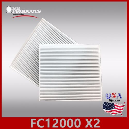 FC38185 2PC//SET CABIN AIR FILTER ~ 2015-17 CHRYSLER 200 /& 2014-18 JEEP CHEROKEE