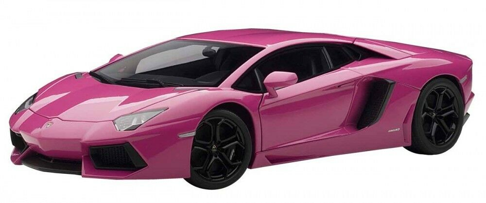 AUTOart LP700-4 Pink Lamborghini Aventador 1 18 Scale Alloy Model