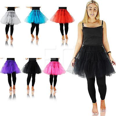 New Womens Ladies Unisex Long Tutu Net Skirt Knee Length Flarey Puffy Retro Neueste Technik