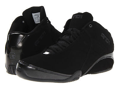 AND1 AND 1 Mens D1051MBB Rocket 3.0 Mid Basketball Shoes [ Black / Black ]